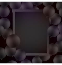 Black ballons on black background with mockup vector image vector image