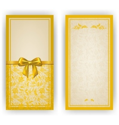 Elegant template for invitation card vector image vector image