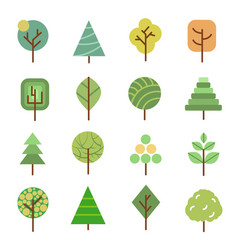 linear flat trees nature forest design vector image
