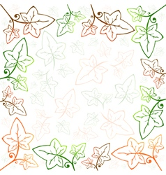 Multicolored Ivy Frame vector image vector image