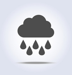 rain and cloud gray flat icon vector image