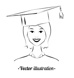 Smiling student vector image vector image