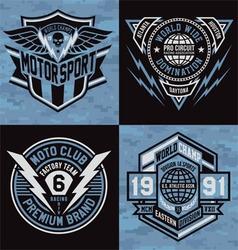 Sports emblem graphics vector image vector image