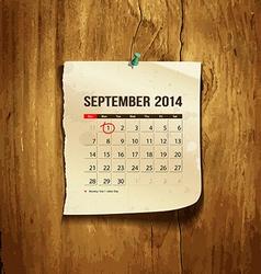 Calendar september 2014 vector