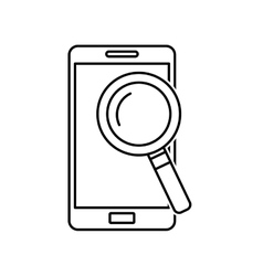 electronic commerce with smartphone vector image