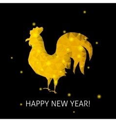 Gold Rooster Happy New Year vector image vector image