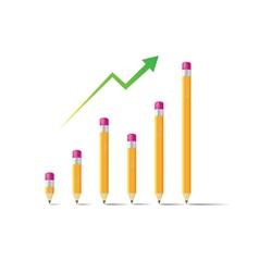 Pencil Graph vector image