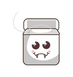 Dental floss character icon vector