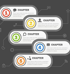 Infographics banners design with icons template vector image vector image