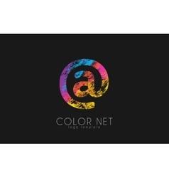 Net logo design Color net logo Web logo design vector image