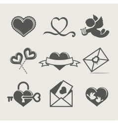 st valentines day set icon vector image vector image