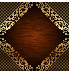 Brown ornate frame vector image