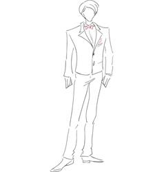 Groom sketch vector image vector image
