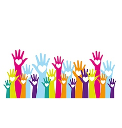 hands up vector image