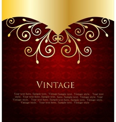 Red Label Template vector image