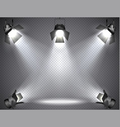 spotlights with bright lights vector image vector image