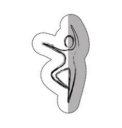 sticker person dancing icon vector image vector image