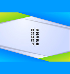 abstract template header and footers blue and vector image