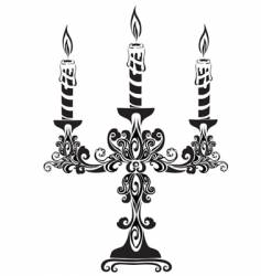 Ancient candelabrum vector