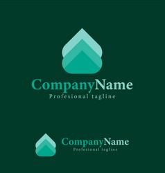 arrow abstract design template logo iconic symbols vector image