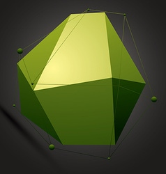 Asymmetric 3D abstract bright construction with vector image