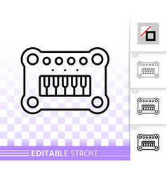 baby piano simple black line icon vector image