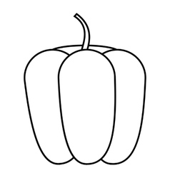 Bell pepper icon outline style vector image