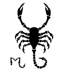 Black scorpio sign vector