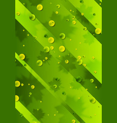 bright green summer background with leaves and vector image