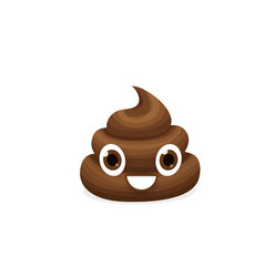 brown emoticon poop character vector image