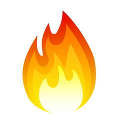burning fire icon flame and hot heat light vector image