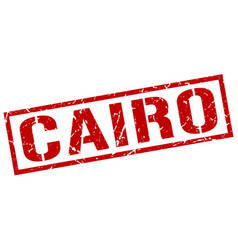 Cairo red square stamp vector