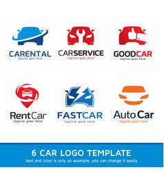 car logo template design vector image