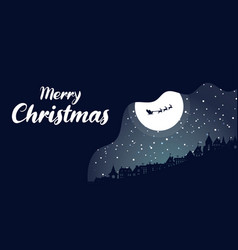 Christmas background winter is coming snowy night vector