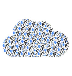 Cloud mosaic of fart gases icons vector