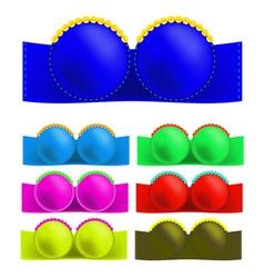 Colorful Bras vector