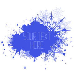 Cover with spray snowflakes and place for text vector