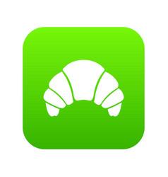 Croissant icon digital green vector