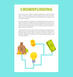 crowdfunding card colorful vector image