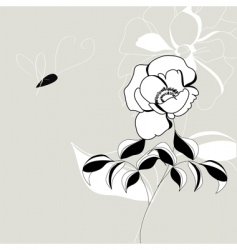 decorative flowers vector image