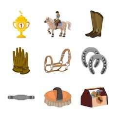 Design horseback and equestrian sign vector
