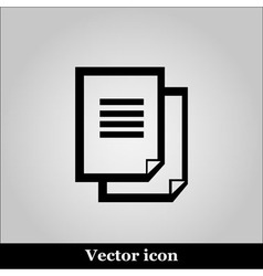 Document icon on grey background vector image