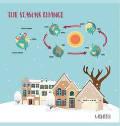 earth seasons cycle vector image
