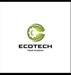 eco tech logo vector image