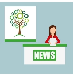 ecological news vector image