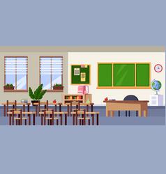 empty classroom interior flat vector image