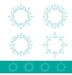 Empty Round Frame Set vector
