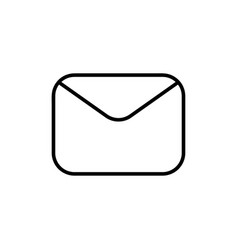envelope outline icon vector image