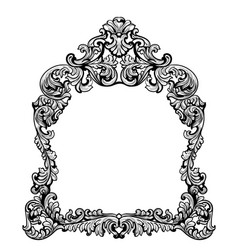 fabulous baroque mirror frame set french vector image