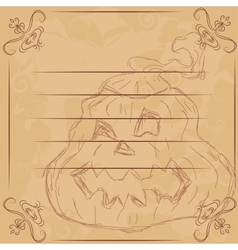 For Halloween Pumpkin vector
